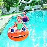 Enlarge toy image: Bestway Little Buddy Clown Fish Raft Above Ground Pool - Orange