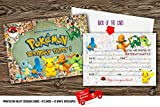 X10Pokémon Kids Birthday Party Einladungen mit 10Kostenlosen Umschlägen, 20