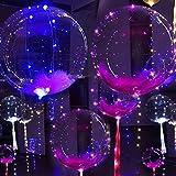 TWIFER Leuchtende geführte Ballon-runde Blasen Dekorations Partei Hochzeit 20inch