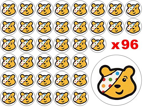 96-x-3cm-BBC-Children-in-Need-Pudsey-Bear-Spots-Fairy-Muffin-Cup-Cake-Toppers-Decoration-Edible-Rice-Wafer-Paper