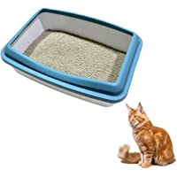 TAIYO PLUSS DISCOVERY® Cat Litter Tray, Size: (35X25 cm) (LXH), Cay Litter Tray with Rim/Semi Closed Style of Cat Litter…