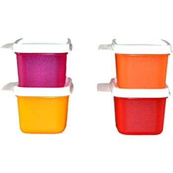 Tupperware Keep Tab Plastic Container Set, 160ml, Set of 4, Multicolour