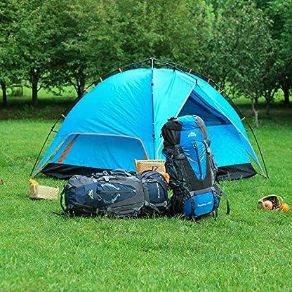 HWJIANFENG Backpack for Outdoor Sports Hiking Traveling Trekking Camping Waterproof Mountaineering Ultralarge Capacity Internal Frame Men Women 80L+5L 8