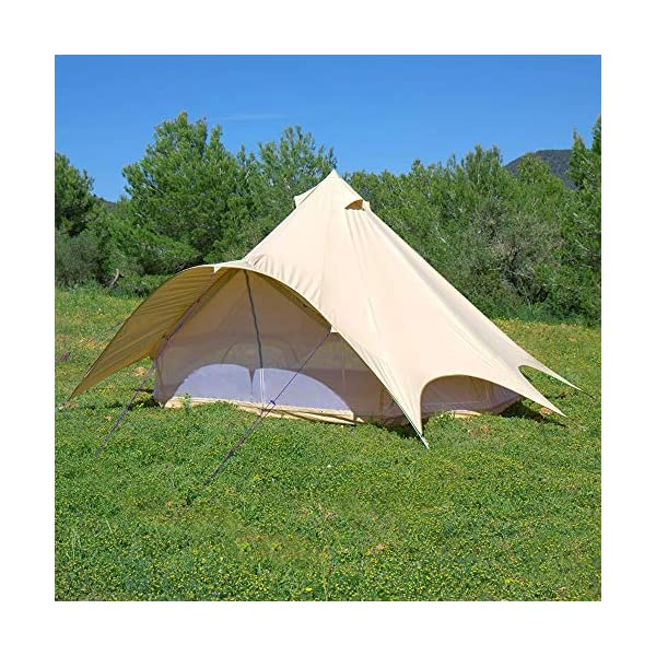 Boutique Camping Tents 5m Sandstone Star Bell Tent With Zipped In Ground Sheet 6