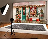 YongFoto 3x2m Vinilo Fondo de Fotografia Tienda de Navidad Regalos Almacenar Al Aire Libre Telón de Fondo Fiesta Niños Boby Boda Adulto Retrato Personal Estudio Fotográfico Accesorios