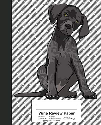 Wine Review Paper: Book German Pointer Dog (Weezag Wine Review Paper Notebook, Band 166) -