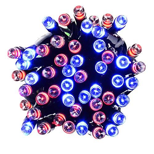 PryEU LED Kette Lichterkette Außen bunt Salzwasserbetriebene (Keine Solar/batterien) Wasserdicht 100 leds 12M für Dekoration Innen Aussen Weihnachten Haus Garten Pavillon Fenstern (RGB-Gelb)