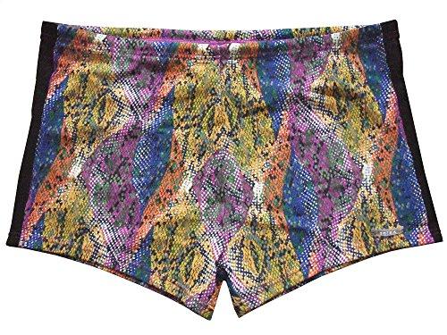Solar Tan Thru Badehose Panty multi blue, Gr. 8 (XXL)
