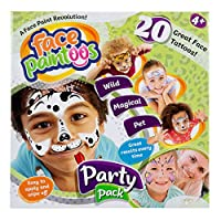 Face Paintoos FP101 Party Pack, Temporary Face Paint Tattoos