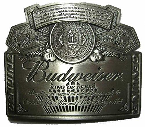 BUDWEISER SILVER LABEL Fibbia per Cintura + espositore