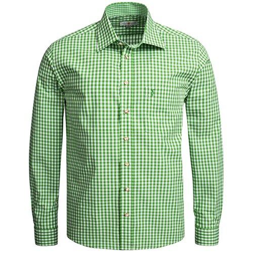 Trachtenhemd Regular Fit in Hellgrün von Almsach, Größe:XXL;Farbe:Hellgrün