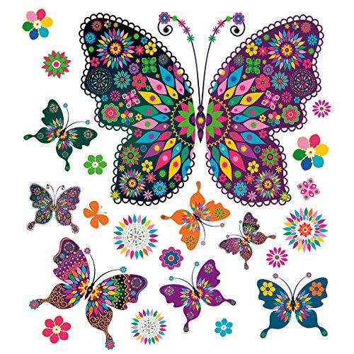 008 Window Sticker - My Pretty Butterflies 50 x 70 cm (Butterfly Tatoo)