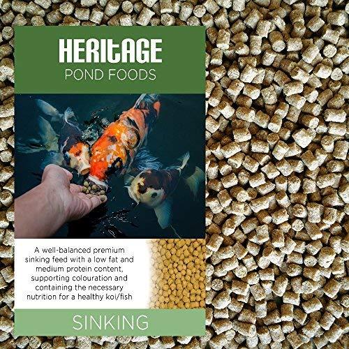 Heritage - Mangime in fiocchi affondante, sano e di eccellente qualità, per pesci rossi e carpe koi da laghetto