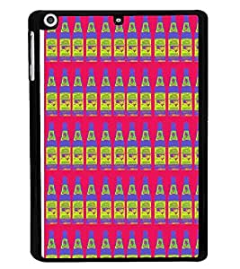 PrintVisa Designer Back Case Cover for Apple iPad Mini 2 :: Apple iPad Mini 2 Wi-Fi + Cellular (3G/LTE); Apple iPad Mini 2 Wi-Fi (Wi-Fi, w/o GPS) (Bottle pattern Pink and Comic)