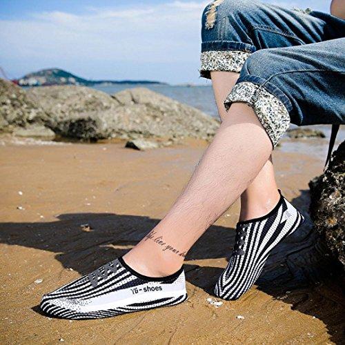 Rawdah Quick-Dry Water Swim Surf Socks Yoga Calzini da surf di unghie su unghie stampati a rapida asciugatura Bianca