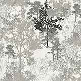 #6: Wallpaper 4 Less Silver Grey Vintage wallpaper-57sqft