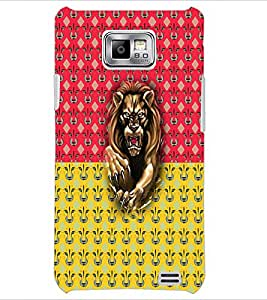 PrintDhaba Lion D-2990 Back Case Cover for SAMSUNG GALAXY S2 (Multi-Coloured)