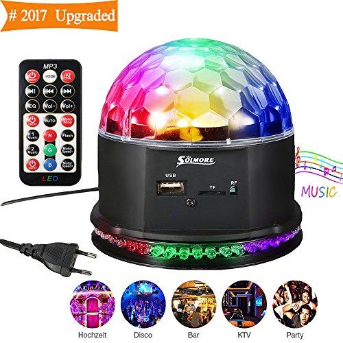 Discokugel LED,SOLMORE Magic Musik Partybeleuchtung Disco Projektor Discolicht Lichteffekte Discobeleuchtung Partybeleuchtung mit Fernbedienung für Club Bar Pub KTV Heim-Parteien Hochzeitsfest