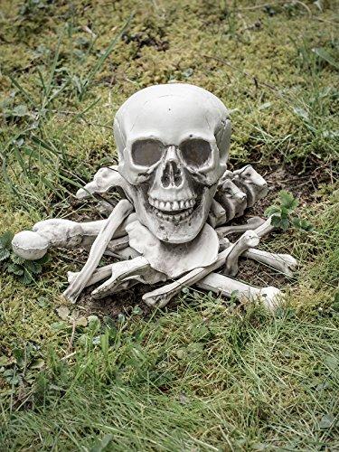 Set Halloween-Deko Knochen Weiss 40x15x16cm ()