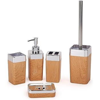 Ensemble d\'Accessoires de Bain 5 pièces accessoires de salle de bain ...