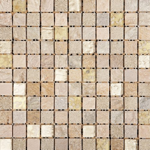 Classical Flagstones Benjamin Mosaic Tiles For Walls & Floors, Kitchens & Bathrooms 300 x 300 x 10mm (23 x 23mm)