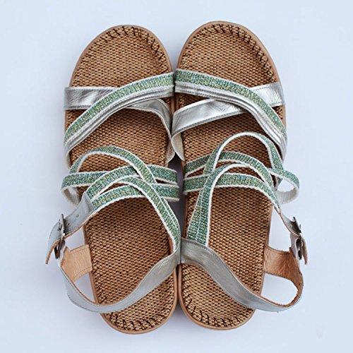 LGK&FA Estate Donna Sandali sandali Biancheria donna sole piazzole di piede Estate Scarpe Donna Q - 35 and - 38