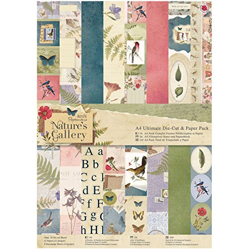Papermania Ultimate A4 Die-Cuts & Paper Pack 48/Pkg-Nature's Gallery