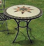 Gartentisch Constanza, Mosaik Möbel im Mediterrane Stil, Tisch Rund 70 cm