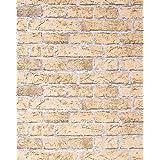 Papel mural con efecto muro de ladrillos EDEM 583-21 imitación piedra stones y diseño rústico marrón pálido - arena
