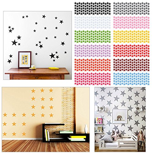Wohnkultur Abnehmbare PVC 3d Wandaufkleber Wandtattoo Kunst prince Star Wall Poster/Zimmer rose rot 4 cm 90 stücke -
