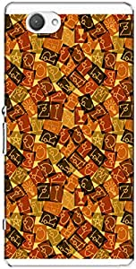 The Racoon Grip printed designer hard back mobile phone case cover for Sony Xperia Z1 Compact. (Orange Lov)
