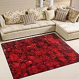 ingbags Super Soft Modern Rot Natur Rosen, ein Wohnzimmer Teppiche Teppich Schlafzimmer Teppich für Kinder Play massiv Home Decorator Boden Teppich und Teppiche 160x 121,9cm, multi, 63 x 48 Inch