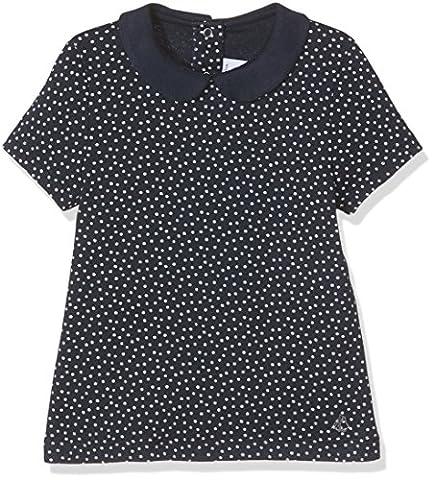 Petit Bateau Girl's Fifou T-Shirt, Blu (Smoking/Lait), 92 cm