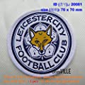 CoolPart 20081 Leicester City Football Club Embroidery Patch 100% Quality Guarantee Embroidered Iron On Patch Perfect Patches
