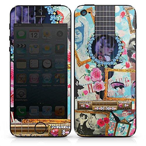 Apple iPhone 4s Case Skin Sticker aus Vinyl-Folie Aufkleber Gitarre Kunst Flamenco DesignSkins® glänzend