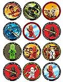 12 Stück Muffinaufleger Muffinfoto Aufleger Foto kompatibel mit Ninjago (31) rund ca. 5 cm *NEU*OVP*