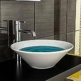 Design Keramik Waschtisch / für Gäste WC / Waschschale / Badezimmer / Aufsatzschale / Aufsatzwaschschale