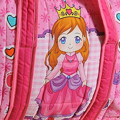 Yuga Trendy Digitaldruckwickeltasche für Mamas mit 3 Taschen Wasserdicht Innenstepp 12 x 16 x 8 Zoll Pink