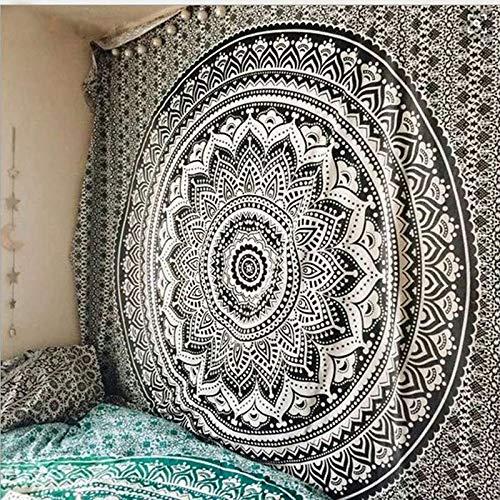 TapestryIndian Mandala Tapisserie Taijiquan Wandteppich Hippie Deko Gecko Yoga Matte, B, (A) x 150Cm - Gecko Yoga-matte