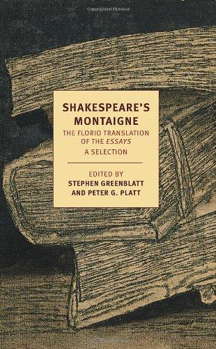 Shakespeare's Montaigne (Nyrb Classics)