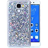 """Huawei Honor 7 Coque, Huawei Honor 7 Protection, Huawei Honor 7 Etui, Nnopbeclik® Soft/Doux Silicone Transparente """"paillette brillant"""" Backcover Housse (5.2 Pouces) Antiglisse Anti-Scratch Etui - [Argent]"""