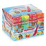Flic'n'lic Lutscher Tropical 24 Stück 336g - Doppelter Fruchtgeschmack (1er Pack)