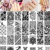 Internet 10pcs Femme DIY Nail Art Nail Stamping Image de Timbre Plaque d'impression Nail Art Modèle