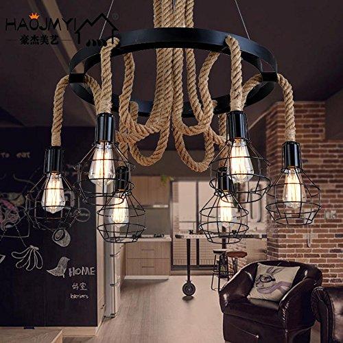 Kreative Für Billig Kostüm - WanDun Amerikanische Ländliche Skandinavischen Retro Nostalgie Seil Kronleuchter Restaurant Cafe Bar Studie, Kreative Kostüm Shop Beleuchtung