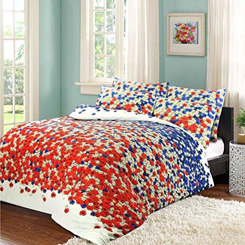 Nimsay Home Poppy Polycotton Bettbezug Set, Baumwollmischung, Multi, Doppelbett