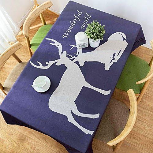 120120 cm blu navy renna Nordic Style Garden Garden Garden picnic rettangolare da pranzo Instagram tovaglia cotone lino quadrato eco-friendly copre B076FWPZJB Parent | Grande Varietà  | Imballaggio elegante e stabile  | Elegante Nello Stile  7f05ef
