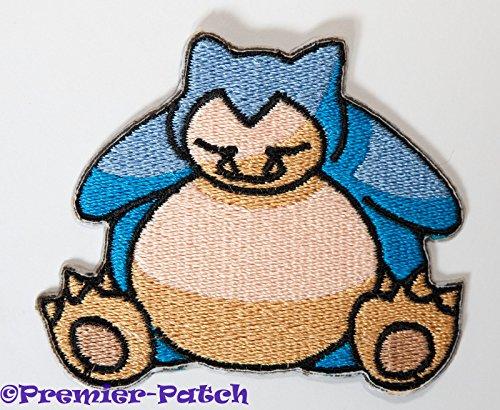 Snorlax Aufnäher zum Aufbügeln/Aufnähen - 7,6 cm Pokemon Badge Applikation Kostüm Cosplay Motiv