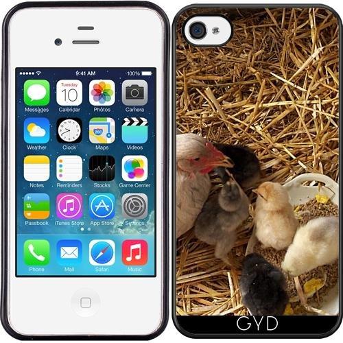 SilikonHülle für Iphone 4/4S - Huhn Und Küken by Marina Kuchenbecker
