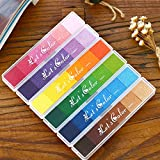 6 Colours Ink Pads Craft Stamp – Fingerprint Scrapbook Rubber Stamp Finger Print Craft Rainbow Ink Pads DIY Craft Ink Pad Paper Wood Fabric Paper Craft Fabric Scrap Book Painting For All Fingerprint Rubber Art Craft Stamps Baby Safe 6 Pcs A Set