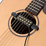 #3: SG Musical Professional Classic Acoustic Guitar Pickup Transducer Amplifier Guitar Pickup Sound Hole